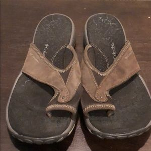 Leather cushy Sandals s brown